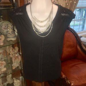 H&M Tops - H&M Women's Basic Blk Short Sleeve Top/SZ M